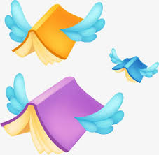 vector flying books book fly wing png and vector