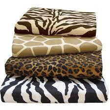 Animal print safari bedding 200 tc 100% cotton sateen sheet sets & animal print sheets Adamdwight.com
