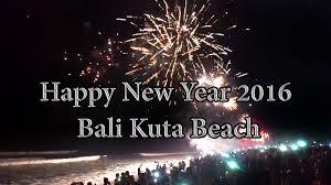 happy new year 2016 with fireworks. Interesting New Happy New Year Firework 2016 Bali Kuta Beach Indonesia Inside With Fireworks T