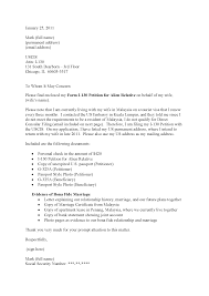 I 130 Cover Letter Sample For Spouse Cover Letter Ide