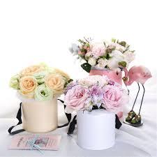 Paper Flower Arrangements Chic Paper Flower Arrangement Box With Lid Bucket Florist Bouquet