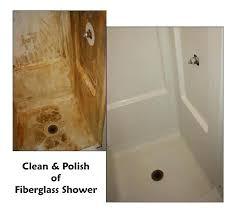 clean fiberglass shower fiberglass bathtub cleaner tub and tile refinishing clean polish of fiberglass shower fiberglass