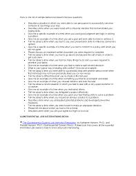 Quintessential Careers Interview Questions Best Photos Of Behavior Based Interview Questions