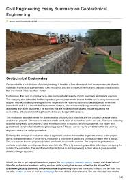 premiumessays net civil engineering essay summary on geotechnical eng
