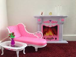 barbie size dollhouse furniture set. Barbie Size Dollhouse Furniture- Living Room Fire Place Leisure Chair: Amazon.co.uk: Toys \u0026 Games Furniture Set E