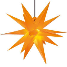 Deco Plant Weihnachtsstern 18 Zacker Aus Kunststoff Für Innen Außen Dekoration ø 50 Cm In Gelb 7950