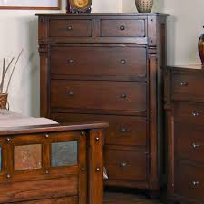 Santa Fe Bedroom Furniture Santa Fe Wood Six Drawer Chest In Dark Chocolate By Sunny Designs