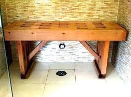 wood shower bench wood shower bench shower benches lighthouse wooden shower bench options 3 ft l x wood shower bench wooden