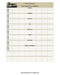 Notebook Sheet Template Salon Inventory Sheet Template Inventory Sheet Templates