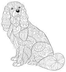 Five dogs in a funny dog coloring page. Coloring Pages Dog Coloring Pages Printable