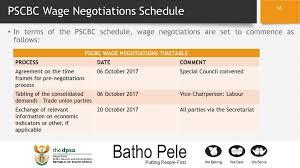 wage negotiations process progress regarding salary negotiations in the public service