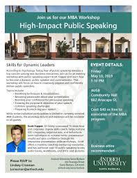 High Impact Public Speaking Workshop Antioch Santa Barbara