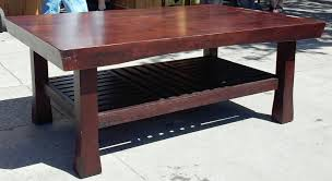 sold 2265 thai teak coffee table with shelf 60