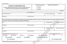 Eeoc Complaint Form Templates 5 Free Sample Example Format