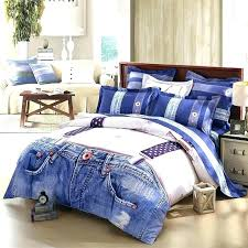 denim bed spread denim bedding sets beds a denim bedspread queen personalized denim blue and white