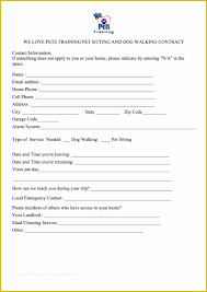 Pet Information Template Pet Sitter Contract Template Free Of 5 Best Of Pet Sitter
