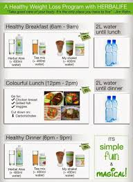 Herbalife Meal Plan Herbalife Weight Loss Program