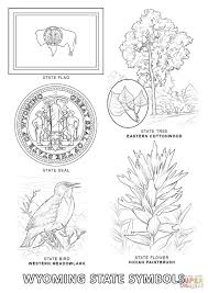 Small Picture Wyoming State Symbols coloring page Free Printable Coloring Pages