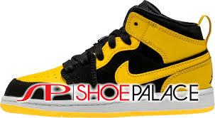 jordan new love. air jordan retro 1 new love mid preschool lifestyle shoe (yellow/black)