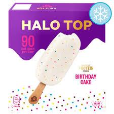 Halo Top Birthday Cake Sticks 3 X 100ml Tesco Groceries