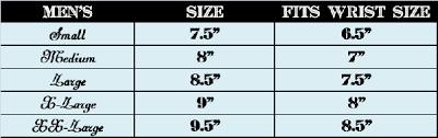 Bracelet Size Chart Men Mens Bracelet Sizing Chart Beaded Bracelets Tutorial Wrap
