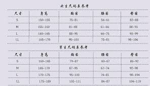 Traditional Chinese English What Does This Size Chart