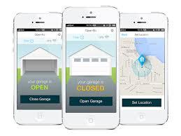 your phone controls your garage door with open me