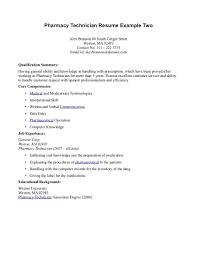 Registered Pharmacy Technician Resume Myacereporter Com