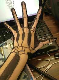 rhdrawingzoro makeup tutorial yourhyou skeleton how to draw a skeleton hand easy hand makeup