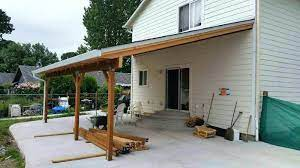 covered patio two story wall mount