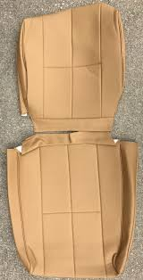 volvo 240 vinyl seat cover beige 3 single stitched lines color code 5127