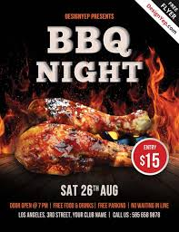 Barbecue Flyers Free Barbecue Night Psd Flyer Template