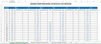 Free 2018 Marathon Calendar Excel Templates At