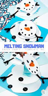 Template Of A Snowman Melting Snowman Paper Craft Arty Crafty Kids