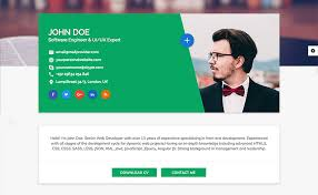 Resume Html Template Simple 48 Best HTML Resume Templates For Awesome Personal Sites