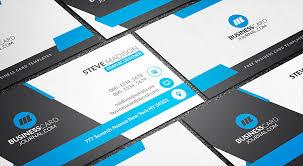 business card templates free stunning blue corporate business card template