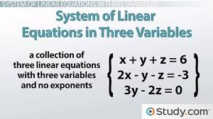 solving systems of linear equations in three variables using determinants lesson transcript study com