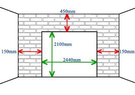 single garage door merements
