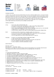Cv Sales Assistant Curriculum Vitae Archives Page 8 Of 29 Pdfsimpli