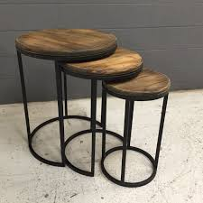 urban round nesting table  nadeau nashville