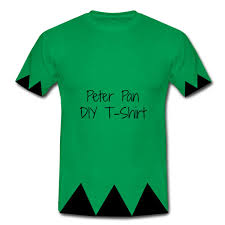 peter pan and tinkerbell green tee diy
