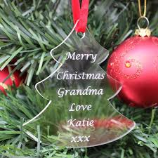 personalised grandad nan christmas tree decoration bauble gift