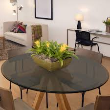 grey glass table top 48 inch round beveled tempered