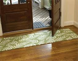 black and white rug runner leaves patterned green rugs floor runner with wooden two doors over