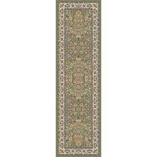 gorman green ivory 2 ft x 11 ft indoor runner rug