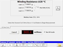 winding resistance test winding