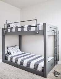 diy industrial bunk bed free plans diy industrial metal queen bunk bed