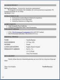 Resume Freshers Format 7 Pdf For Latest Professional Formats In Word