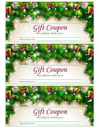 free printable christmas gift certificate templates 21 free printable christmas coupons