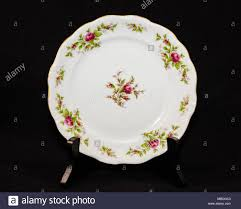 Rose Pattern China Inspiration A Hand Painted Rose Pattern China Dinner Plate Stock Photo